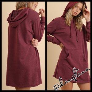 cozy long sleeve hooded dress